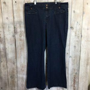 Charter Club Macy's Plus Size Wide Leg Jeans Sz 18